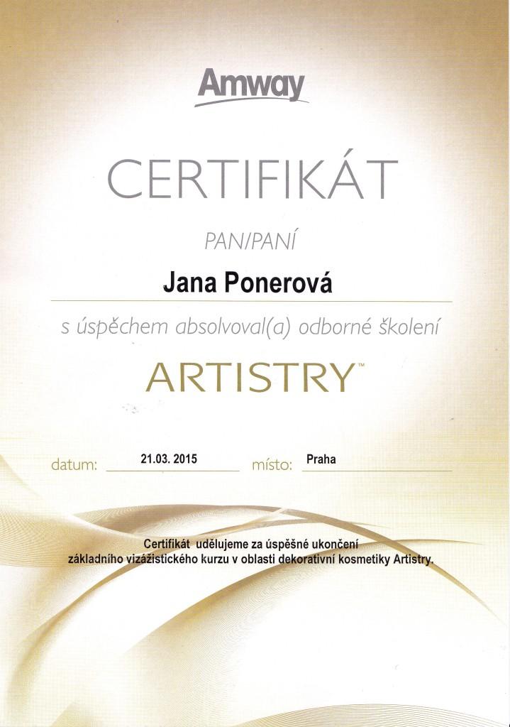 certifikat Artistry